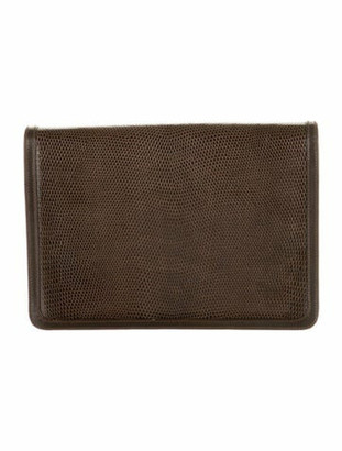 Cartier Embossed Leather Clutch Brown