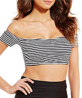Gianni Bini Striped Off-the-Shoulder Top