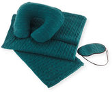 Sofia Cashmere Cashmere Cable-Knit Travel Gift Set