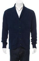 Ovadia & Sons Patterned Knit Shawl Neck Cardigan w/ Tags