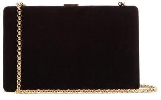 Anya Hindmarch Clutch-on-a-chain Velvet Clutch - Womens - Black