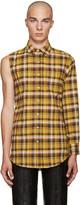 Vetements Yellow Single Sleeve Shirt