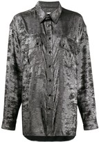 Faith Connexion oversized chest pocket shirt