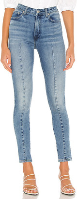 JONATHAN SIMKHAI STANDARD Rae High Waisted Skinny Ankle Jean With Dart. - size 24 (also