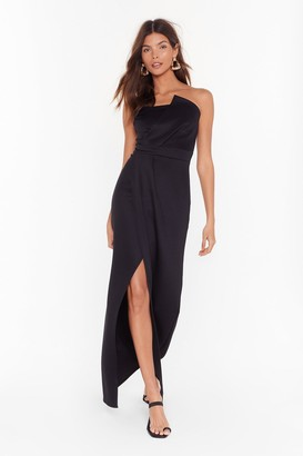 Nasty Gal Womens A Night to Remember Strapless Maxi Dress - black - 8