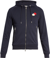 Moncler Zip-up cotton-jersey hooded sweatshirt