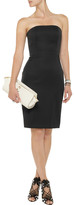 Alexander Wang Leather-trimmed wool-blend sheath dress