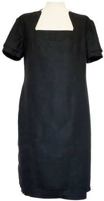 Gianni Versace Black Linen Dresses