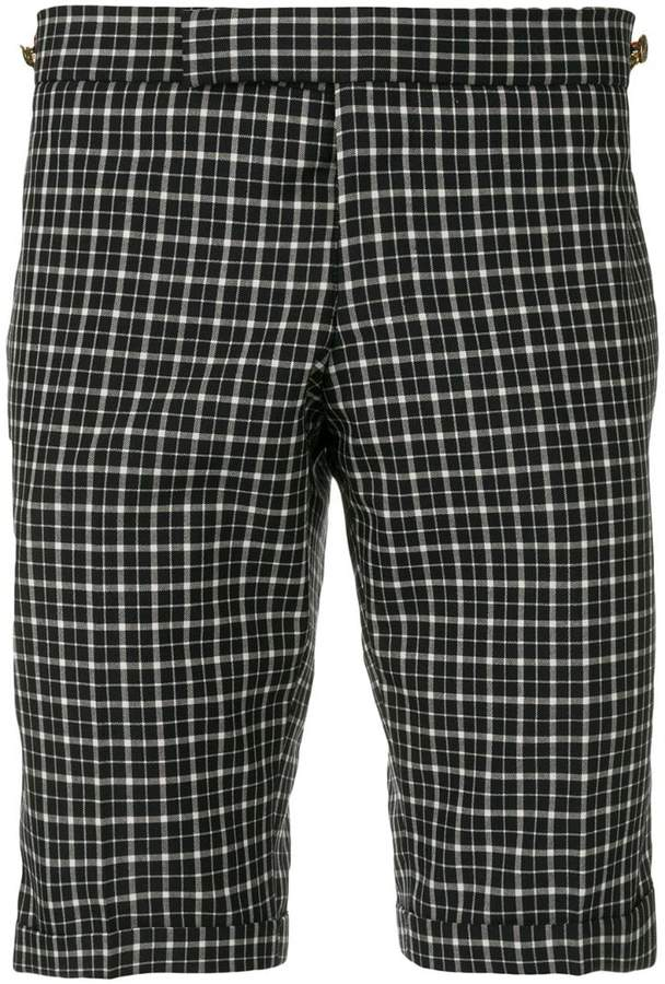 Thom Browne Windowpane Tartan Skinny Short