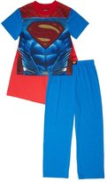 DC Comics Superman Boys 2-Piece Pajama Set with Cape, Kids