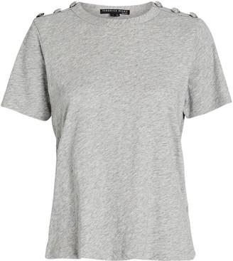 Veronica Beard Carla Button-Embellished T-Shirt