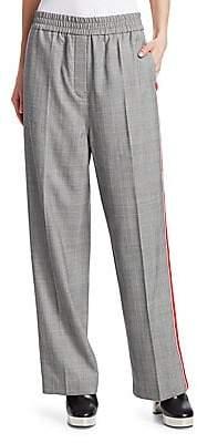 Calvin Klein Women's Wide-Leg Wool Check Pants