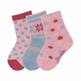 Sterntaler Girl's Baby-Rasselsockchen Wolf Calf Socks
