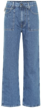 Helmut Lang Factory high-rise straight leg jeans