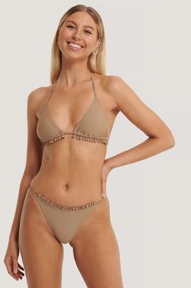 Kim Feenstra X NA-KD Thin Strap Frill Bikini Briefs