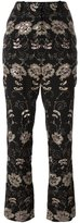 Givenchy floral embroidered trousers