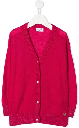 MonnaLisa Heart Plaque Cardigan