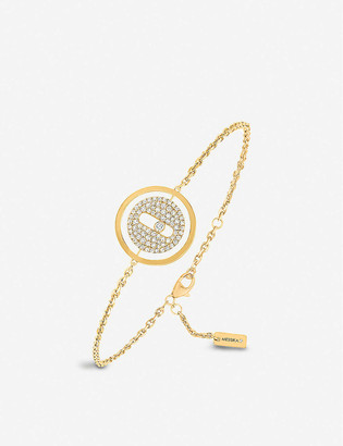 Messika Lucky Move 18ct yellow-gold and pave diamond bracelet