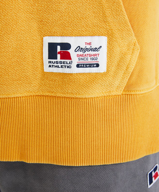 Russell Athletic Reverse Panel Hoodie Sulphur Yellow