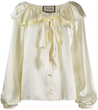 Gucci Ruffled Pussybow Blouse