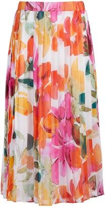 New York & Co. Bellaflora Knife-Pleat Skirt - Eva Mendes Fiesta Collection