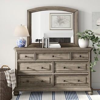 Three Posts Thames 7 Drawer Dresser with Mirror