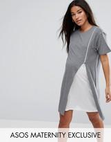 Asos NURSING Zip Side Drape Dress