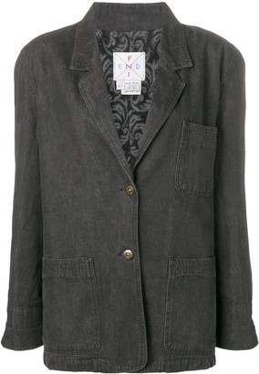 Fendi Pre-Owned denim blazer