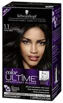 Schwarzkopf Color Ultime Hair Color Cream, 1.1 Raven Black (Packaging May Vary)