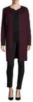 Halston Wool Button Down Coat