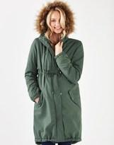 Mama Licious Mamalicious Maternity Faux Fur Hooded Coat