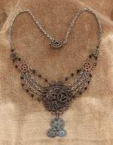 Elope Steampunk Gear Chain Antique Necklace