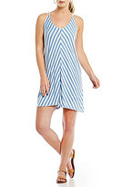 Billabong Back Street Striped V-Neck A-Line Dress