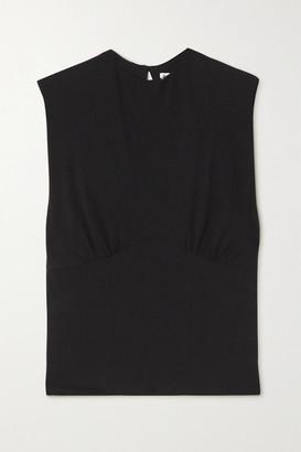 Reformation Wilton Stretch Organic Cotton-jersey Tank - Black