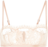 Lace Story Bandeau Bra In Leavers Lace