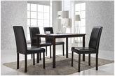 Asstd National Brand Baxton Studio Andrew Wood-Top Dining Table