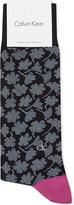 Calvin Klein Floral cotton-rich socks