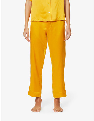 ASCENO Antibes cropped silk-satin pyjama bottoms