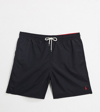 Polo Ralph Lauren Big & Tall Traveler player logo swim shorts in black