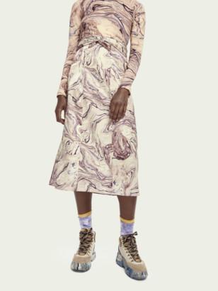 Scotch & Soda Satin feel knotted midi skirt | Women