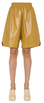 Bottega Veneta Bermuda Leather Shorts