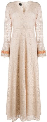 Pinko Lace V-Neck Gown
