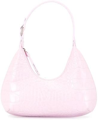 BY FAR Crocodile Effect Leather Shoulder Bag