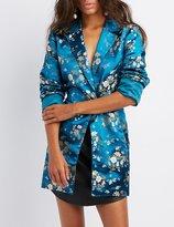 Charlotte Russe Floral Brocade Blazer