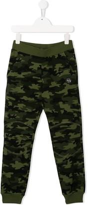 Philipp Plein Junior teddy camouflage track pants