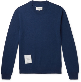 Maison Margiela Appliqued Recycled Cashmere And Merino Wool-Blend Sweater