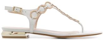 Tosca Ring Embellished Thong Sandals