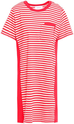 Current/Elliott The Beatnik Striped Cotton-jersey Mini Dress