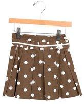 Tartine et Chocolat Girls' Pleated Polka Dot Skirt w/ Tags