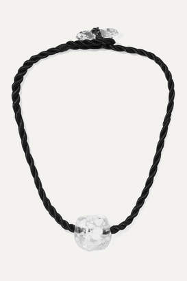 Maryam Nassir Zadeh Omen Glass And Cord Necklace - Black